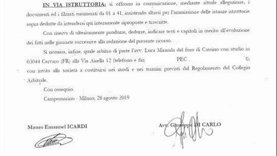 lettera avvocato