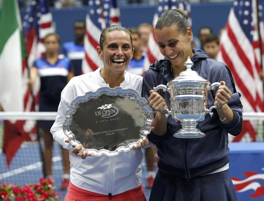 Pennetta e Vinci agli US Open del 2015