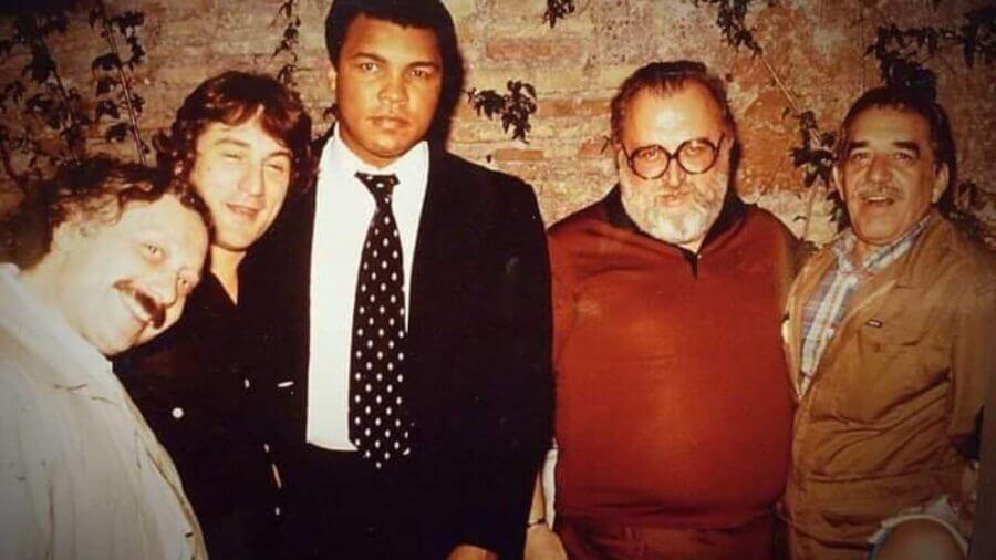 Da sx: Minà, De Niro, Alì, Leone e Garcìa Marquez