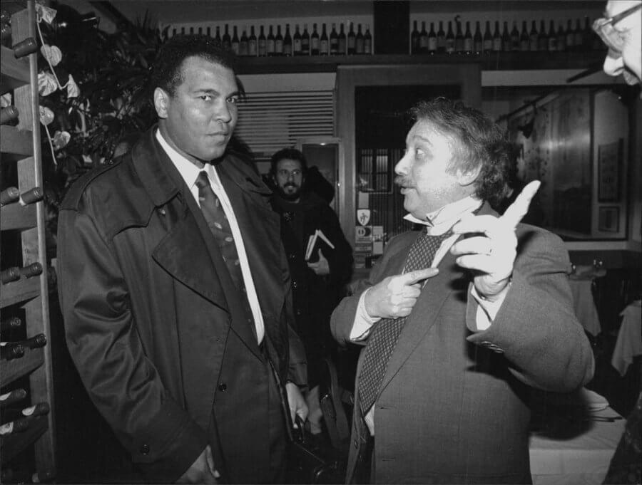 Minà insieme a Muhammad Ali