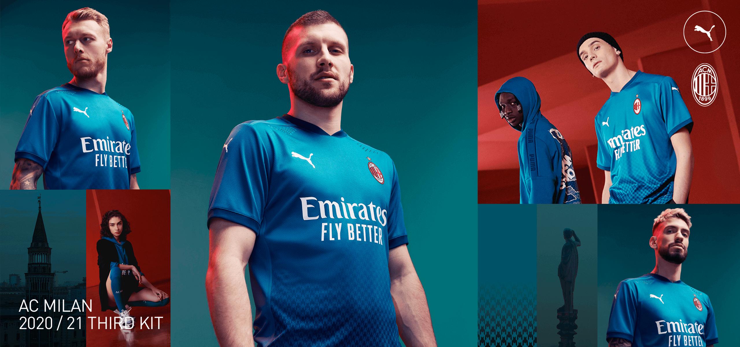 La terza maglia del Milan: azzurra e strettamente legata a Milano ...